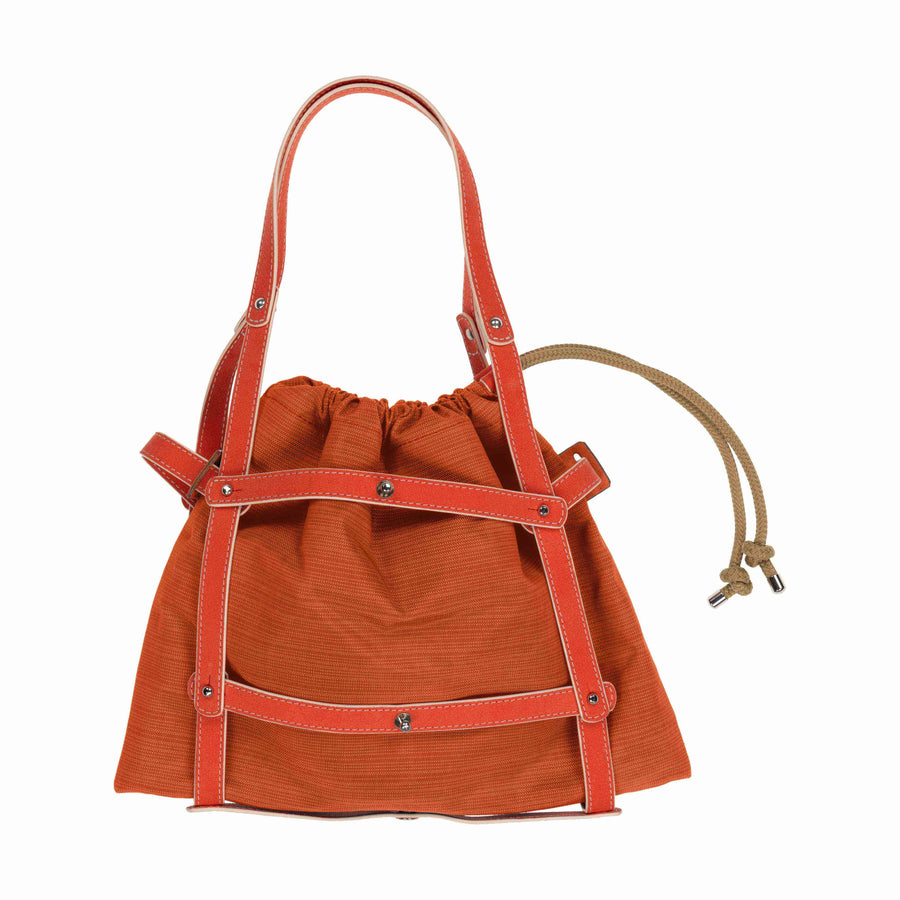 Bandolera Bag in Red (Red Strap)