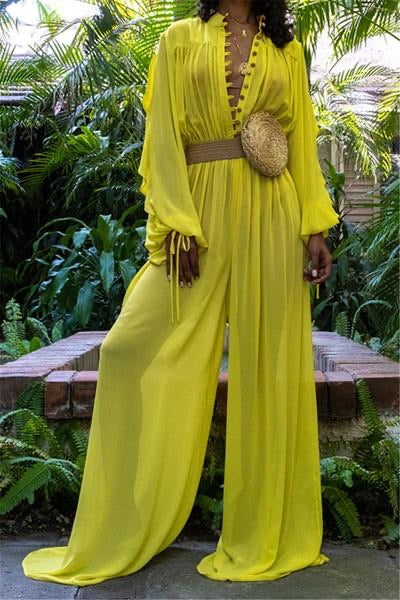 Canary Flared Jumpsuit