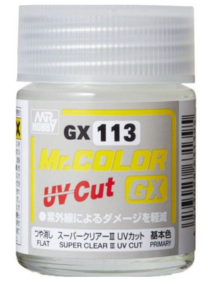 Mr. Hobby Mr Color GX-113 Super Clear III UV Cut Flat 18ml