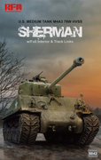 Ryefield Model 1/35 M4A3 76W HVSS Sherman (with full interior & track links) #RM-5042