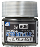 Mr. Hobby Mr Color Super Metallic II - Super Chrome Silver II 10ml