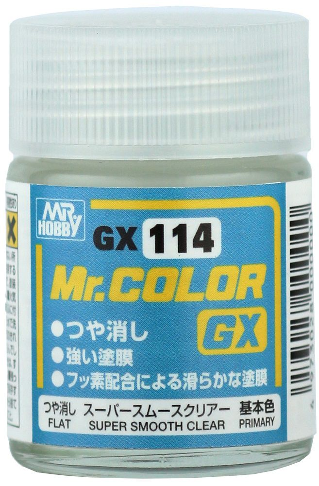 Mr. Hobby Mr Color GX-114 Super Smooth Clear Flat 18ml
