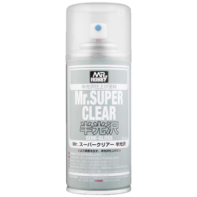 Mr. Hobby Mr Super Clear Semi-Gloss Spray - 170ml