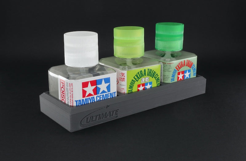 Ultimate Glue Bottle Triple Holder (for Tamiya)