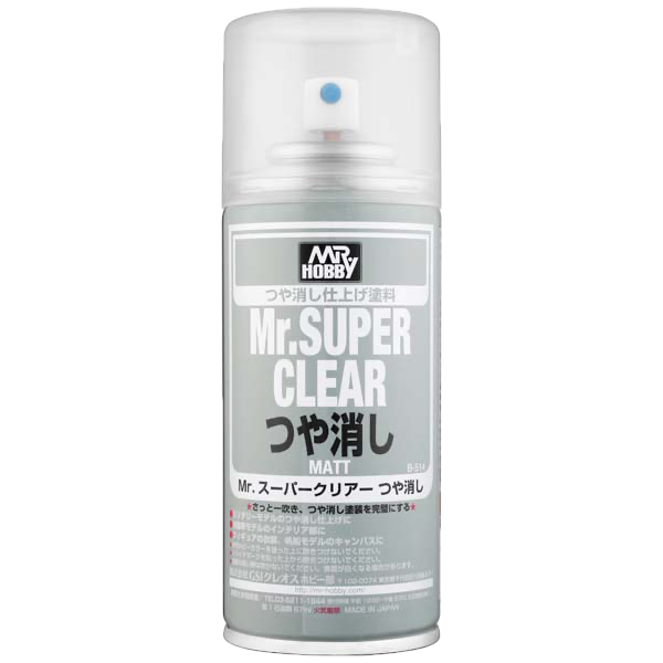 Mr. Hobby Mr Super Clear Flat (Matt) Spray - 170ml