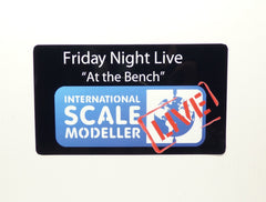 "International Scale Modeller ""Live at the Bench"" Adhesive Sticker"
