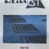 RetrokiT - 1/72 Rebel Base Anti-Slip Plates (Type 2) x 3 (Star Wars)