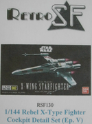 RetrokiT - 1/144 X-Wing Cockpit Detail Set (Ep.V-style) (Star Wars)
