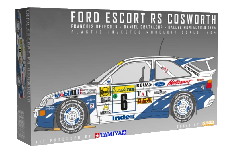 Tamiya Belkits 1/24 Ford Escort RS Cosworth WRC 1994 #BEL24144