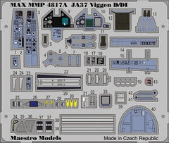 SAAB 37 Viggen D/DI PE Colour Cockpit Detail Set (TAR)