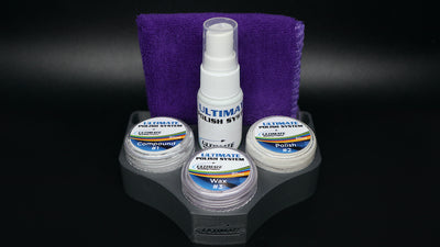 Ultimate Polish System MEGA Bundle - #1 Compound, #2 Polish, #3 Wax, #4 Shine, Ultimate Polishing Cloth & Holder