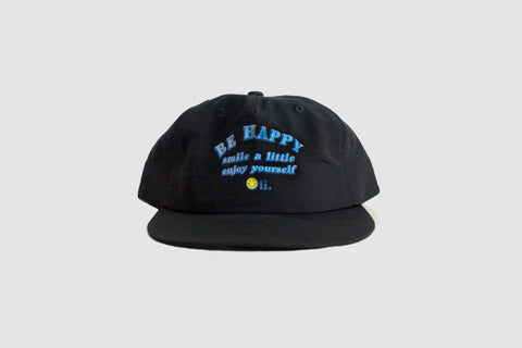 Be Happy Nylon Cap - Black - Oli.