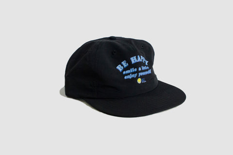Be Happy Nylon Cap - Black