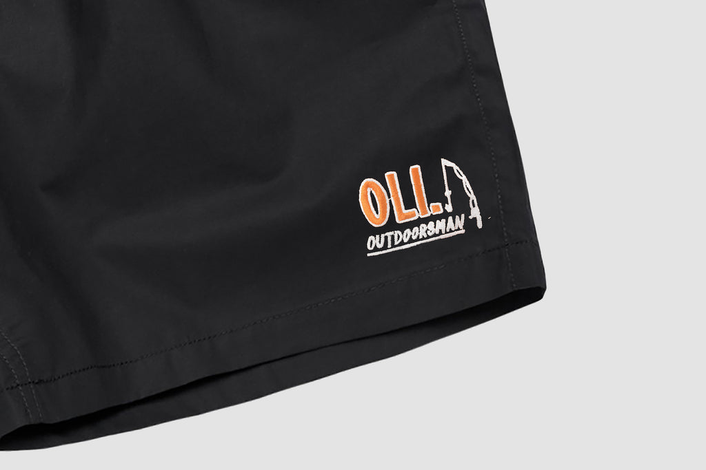 Outdoorsman Water Short - Black - Oli.