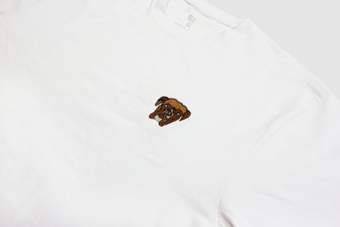 Embroidered Bruce T - White