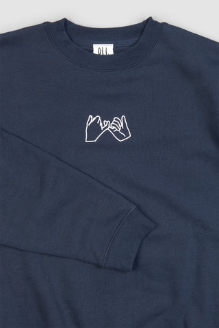 Pinky Promise Pullover - Navy