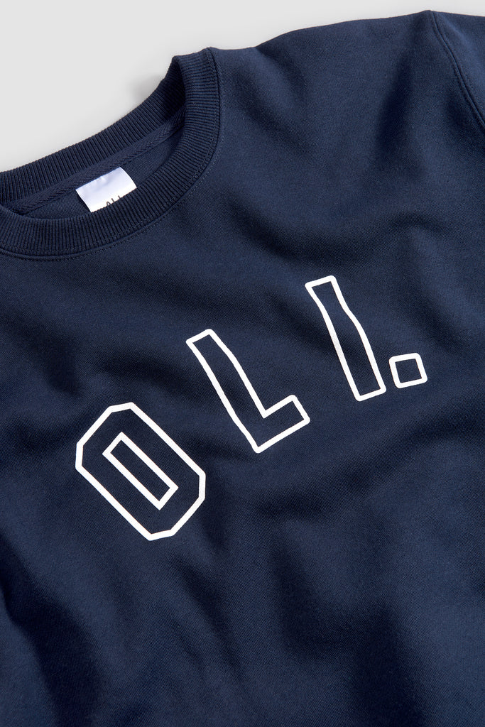 College Outline Pullover - Navy