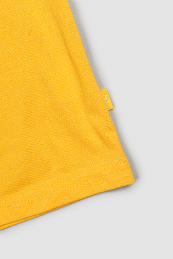 Embroidered Basic T - Sunflower