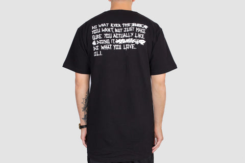 Do Whatever Back Print - Black