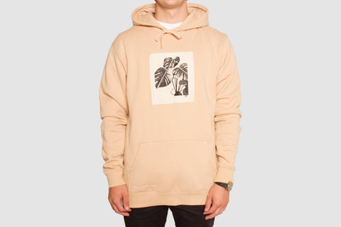Monstera Patch Hood - Camel