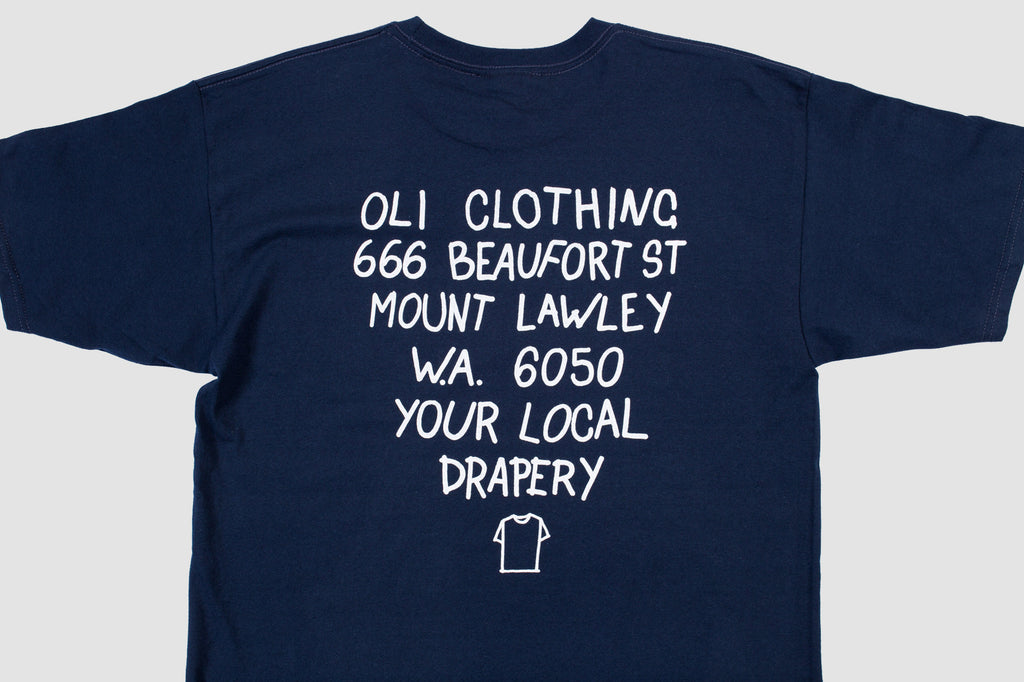 Beaufort Back Print - Navy