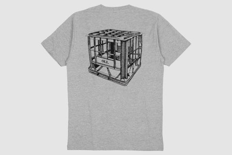 Milk Crate Back Print - Grey - Oli.
