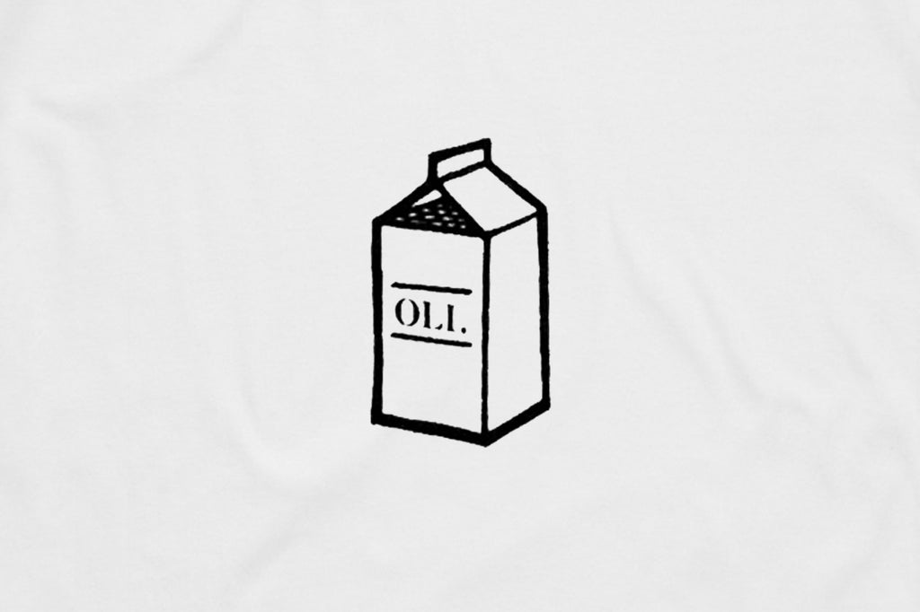 Milk Crate Back Print - White - Oli.