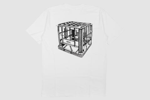 Milk Crate Back Print White - Print To Order - Oli.