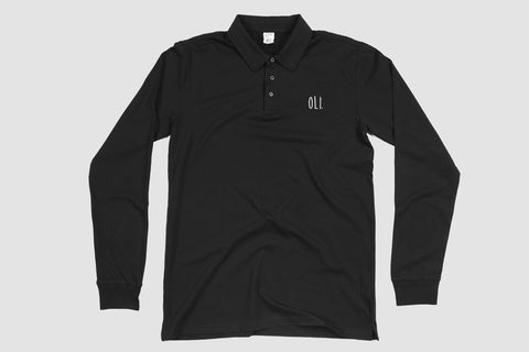 Oli Long Sleeve Polo - Black