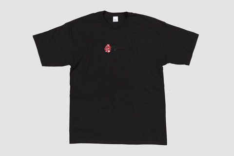 Embroidered Rose T - Black