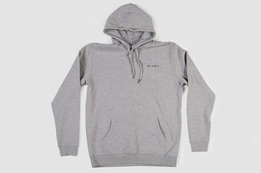 Embroidered Scribble Hood - Grey