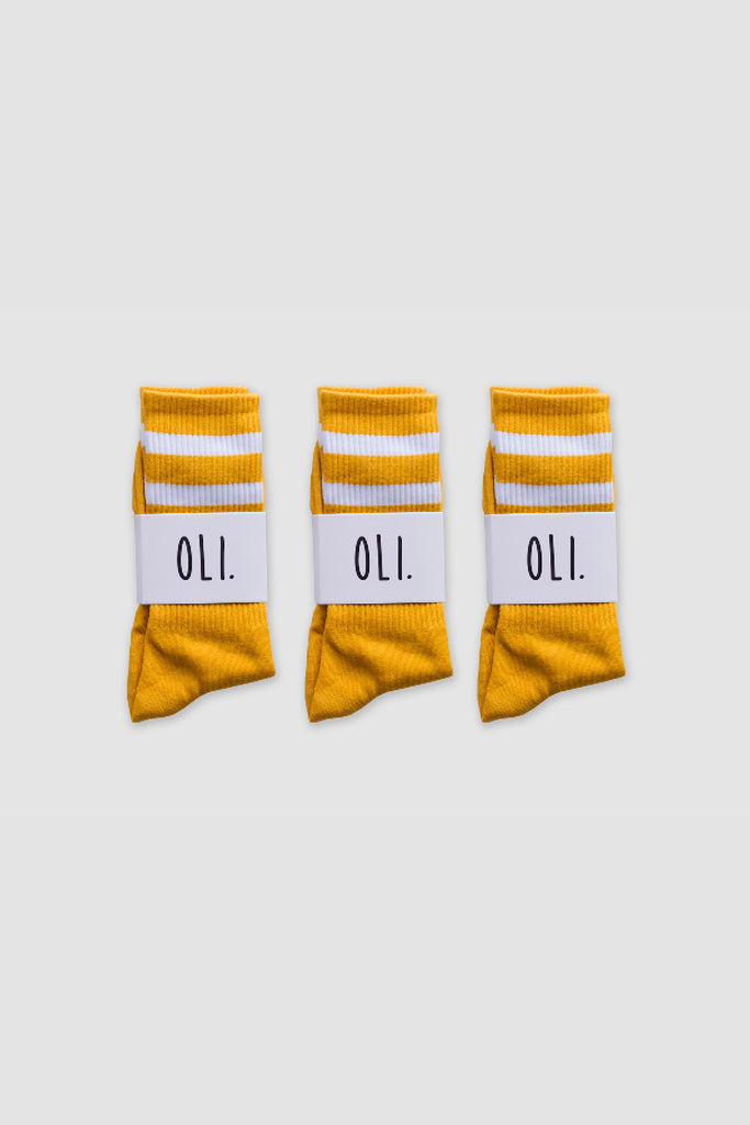 Premium Stripe Sock - Sunflower