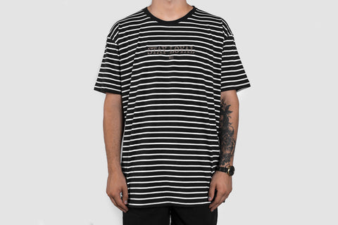 Embroidered Stay Loyal Stripe T