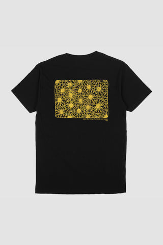 Sunflower Back Print - Black