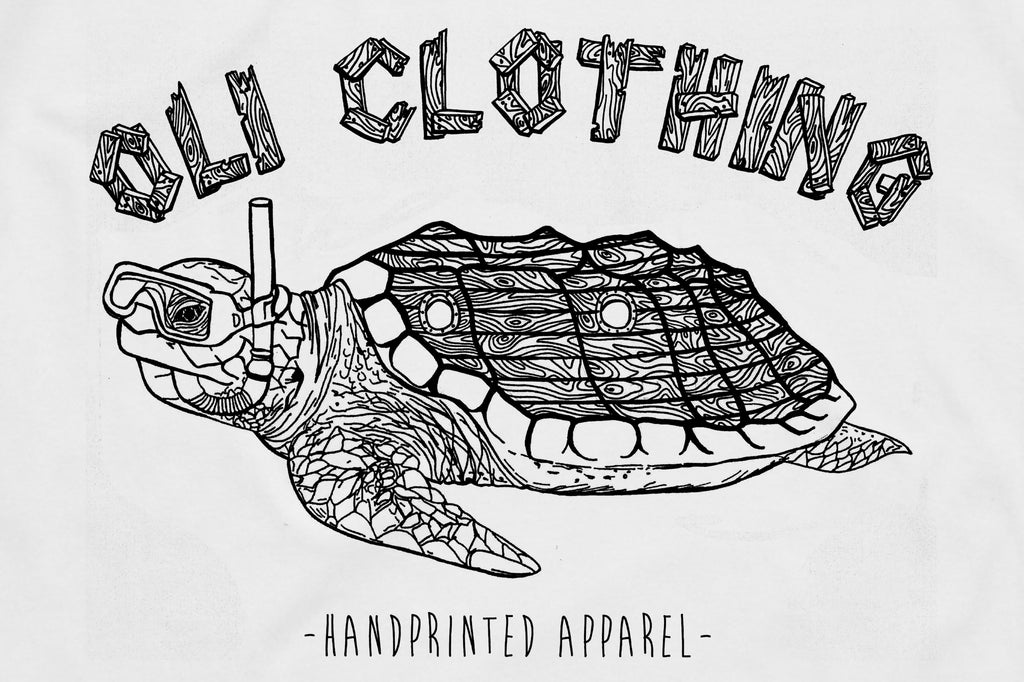 Turtle T White - Print To Order - Oli.
