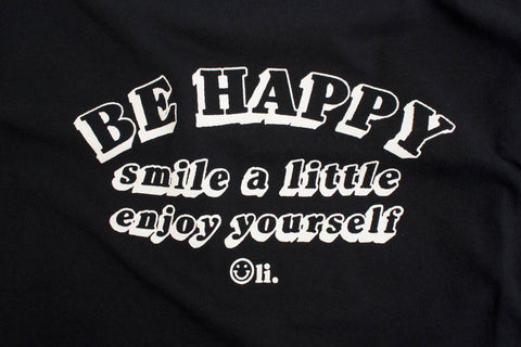 Be Happy T Navy - Print To Order - Oli.