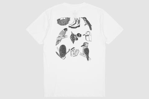 Bird Watching Back Print White - Print To Order - Oli.