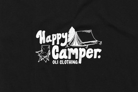 Happy Camper T - Black