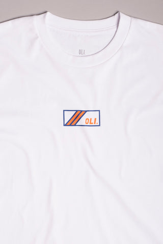Box Stripe T - White