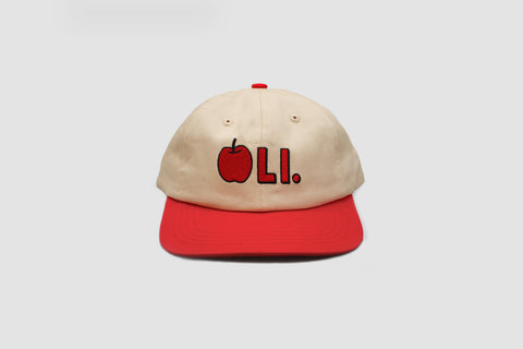 Apple Cap - Cream & Red - Oli.