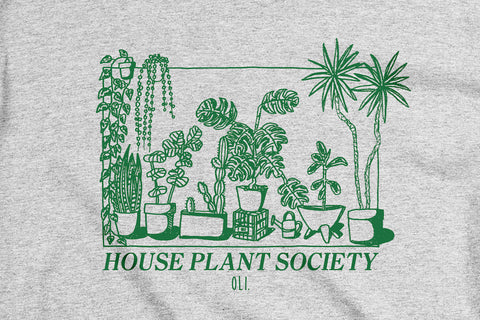 House Plant Society Long Sleeve - Grey
