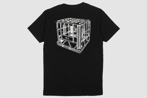 Milk Crate Back Print Black - Print To Order - Oli.