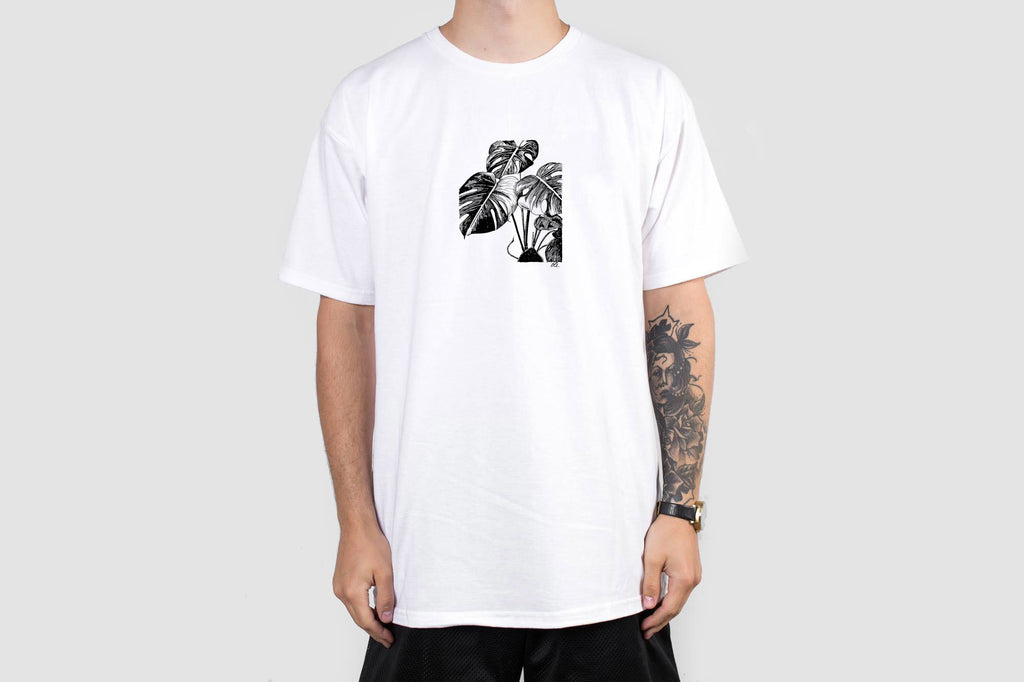 Monstera T - White - Print To Order - Oli.