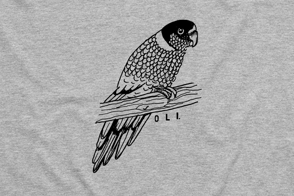 Parrot T Grey - Print To Order - Oli.