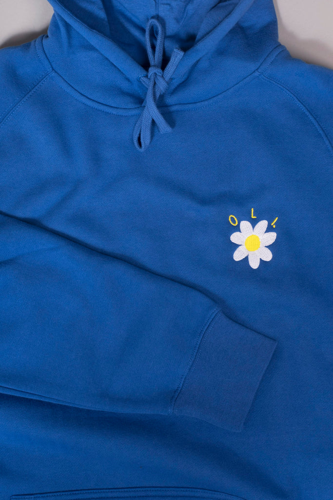 Embroidered Daisy Hood - Royal