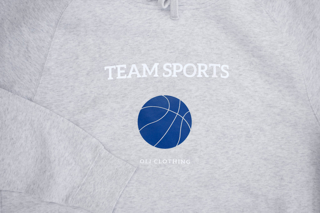 Team Sports Hood - Snow Marle