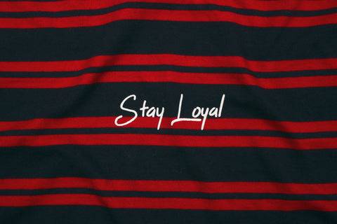 Stay Loyal Stripe - Red/Navy - Oli.