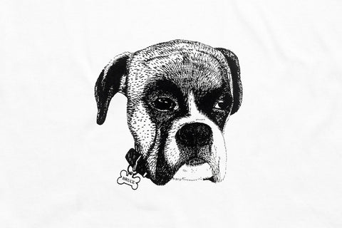 Brucey Boy T White - Print To Order - Oli.