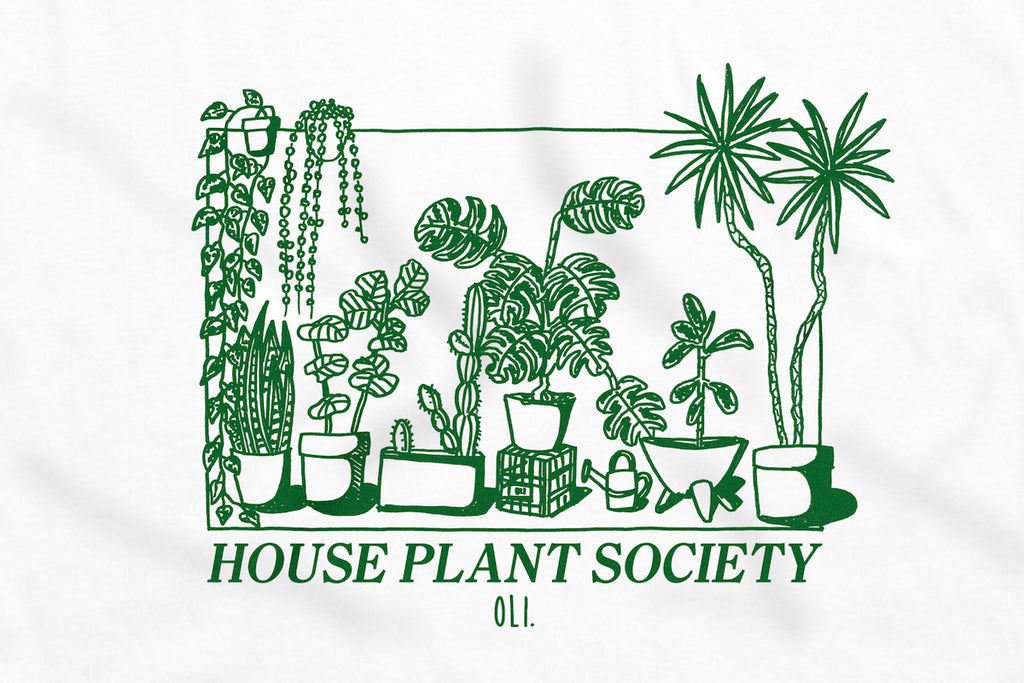 House Plant Society Long Sleeve - White - Oli.
