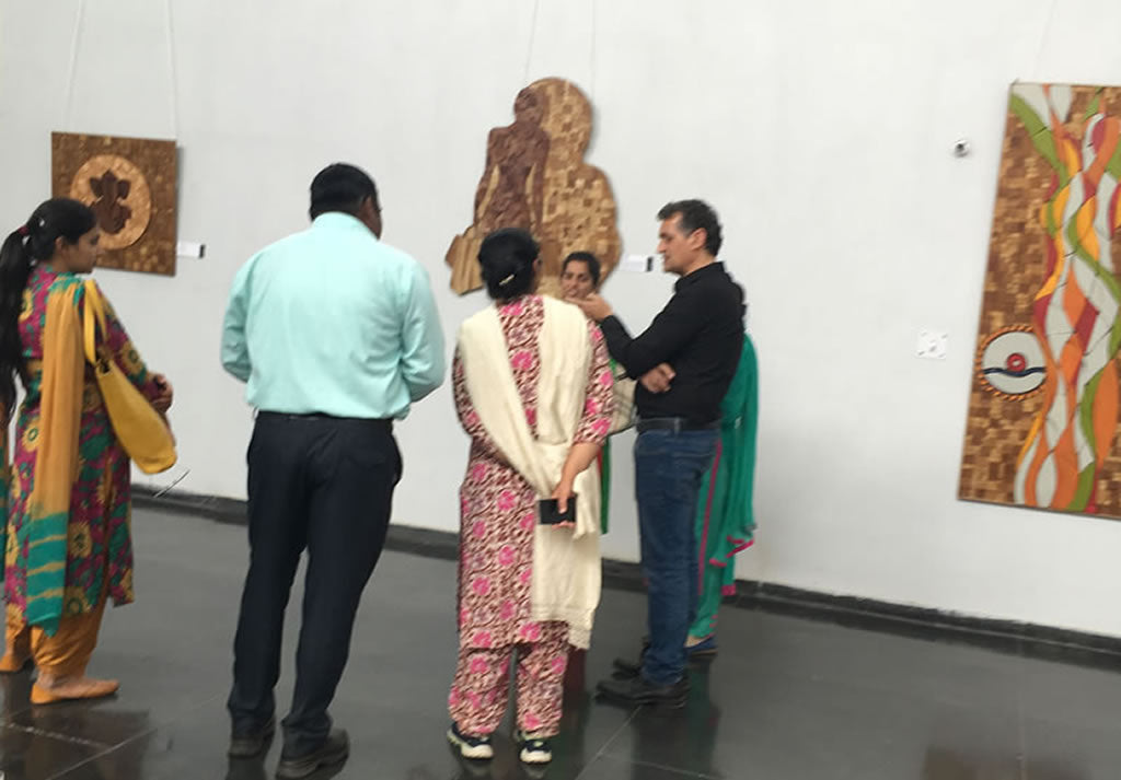 Sureel Art Solo Show Pic 2 from, 25/03/2018 – 29/03/2019 at Fine Arts' Museum, Panjab University, Chandigarh, India